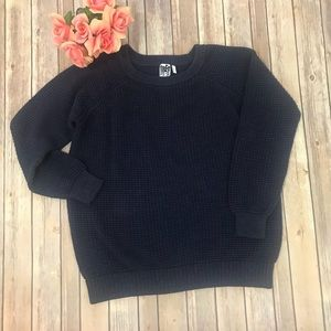 Free Press Chunky sweater with back cut-outs